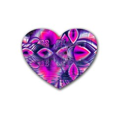 Rose Crystal Palace, Abstract Love Dream  Drink Coasters 4 Pack (Heart)