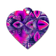 Rose Crystal Palace, Abstract Love Dream  Dog Tag Heart (One Sided)