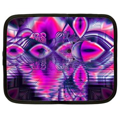 Rose Crystal Palace, Abstract Love Dream  Netbook Sleeve (large)