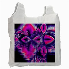 Rose Crystal Palace, Abstract Love Dream  White Reusable Bag (One Side)