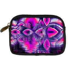 Rose Crystal Palace, Abstract Love Dream  Digital Camera Leather Case