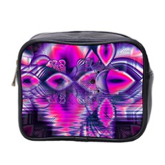 Rose Crystal Palace, Abstract Love Dream  Mini Travel Toiletry Bag (Two Sides)