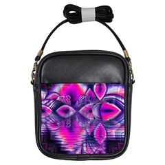Rose Crystal Palace, Abstract Love Dream  Girl s Sling Bag