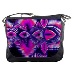 Rose Crystal Palace, Abstract Love Dream  Messenger Bag
