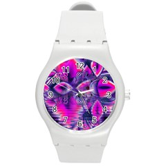 Rose Crystal Palace, Abstract Love Dream  Plastic Sport Watch (Medium)