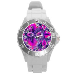 Rose Crystal Palace, Abstract Love Dream  Plastic Sport Watch (Large)