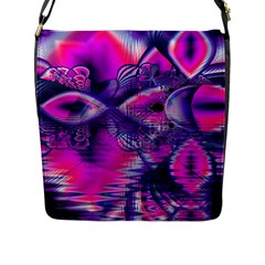 Rose Crystal Palace, Abstract Love Dream  Flap Closure Messenger Bag (Large)