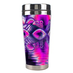 Rose Crystal Palace, Abstract Love Dream  Stainless Steel Travel Tumbler