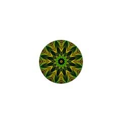 Woven Jungle Leaves Mandala 1  Mini Button Magnet
