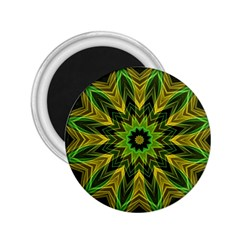 Woven Jungle Leaves Mandala 2.25  Button Magnet