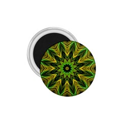 Woven Jungle Leaves Mandala 1 75  Button Magnet