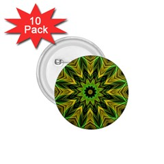 Woven Jungle Leaves Mandala 1.75  Button (10 pack)