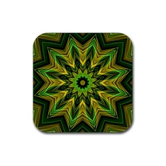 Woven Jungle Leaves Mandala Drink Coaster (square)