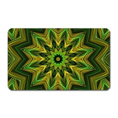 Woven Jungle Leaves Mandala Magnet (rectangular)