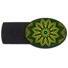 Woven Jungle Leaves Mandala 1GB USB Flash Drive (Oval)