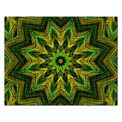 Woven Jungle Leaves Mandala Jigsaw Puzzle (rectangle)