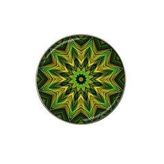 Woven Jungle Leaves Mandala Golf Ball Marker 4 Pack (for Hat Clip)