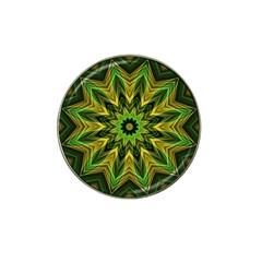 Woven Jungle Leaves Mandala Golf Ball Marker 10 Pack (for Hat Clip)