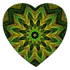 Woven Jungle Leaves Mandala Jigsaw Puzzle (Heart)