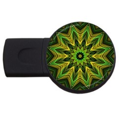 Woven Jungle Leaves Mandala 4gb Usb Flash Drive (round)