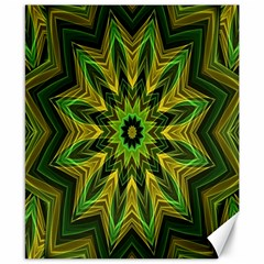 Woven Jungle Leaves Mandala Canvas 8  x 10  (Unframed)