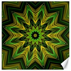 Woven Jungle Leaves Mandala Canvas 20  X 20  (unframed)