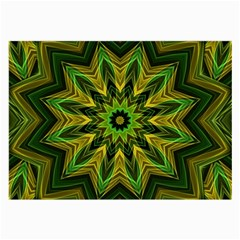 Woven Jungle Leaves Mandala Glasses Cloth (Large, Two Sided)