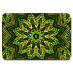 Woven Jungle Leaves Mandala Large Door Mat