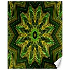 Woven Jungle Leaves Mandala Canvas 11  x 14  (Unframed)
