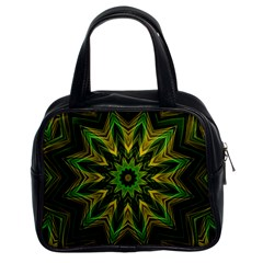 Woven Jungle Leaves Mandala Classic Handbag (two Sides)