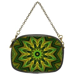 Woven Jungle Leaves Mandala Chain Purse (two Sided)