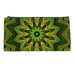 Woven Jungle Leaves Mandala Pencil Case