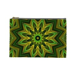 Woven Jungle Leaves Mandala Cosmetic Bag (large)