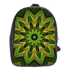 Woven Jungle Leaves Mandala School Bag (large)