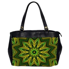 Woven Jungle Leaves Mandala Oversize Office Handbag (two Sides)