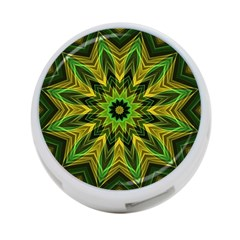 Woven Jungle Leaves Mandala 4-Port USB Hub (One Side)