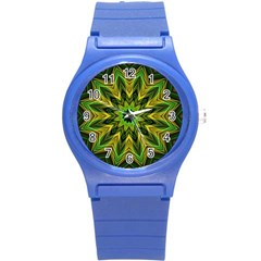 Woven Jungle Leaves Mandala Plastic Sport Watch (Small)