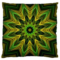 Woven Jungle Leaves Mandala Large Cushion Case (Single Sided)