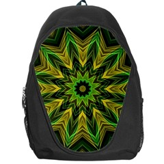 Woven Jungle Leaves Mandala Backpack Bag
