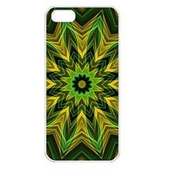 Woven Jungle Leaves Mandala Apple Iphone 5 Seamless Case (white)
