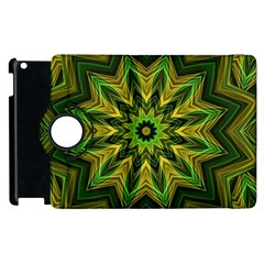 Woven Jungle Leaves Mandala Apple iPad 2 Flip 360 Case