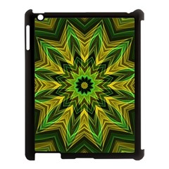 Woven Jungle Leaves Mandala Apple iPad 3/4 Case (Black)