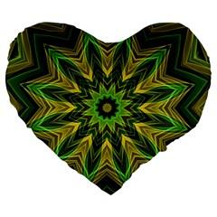 Woven Jungle Leaves Mandala 19  Premium Heart Shape Cushion