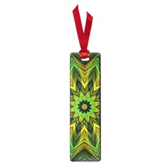 Woven Jungle Leaves Mandala Small Bookmark