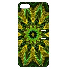 Woven Jungle Leaves Mandala Apple iPhone 5 Hardshell Case with Stand