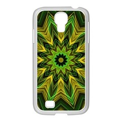 Woven Jungle Leaves Mandala Samsung GALAXY S4 I9500/ I9505 Case (White)