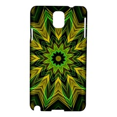 Woven Jungle Leaves Mandala Samsung Galaxy Note 3 N9005 Hardshell Case