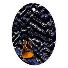 Sound Waves Oval Ornament