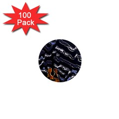 Sound Waves 1  Mini Button Magnet (100 pack)