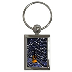 Sound Waves Key Chain (Rectangle)